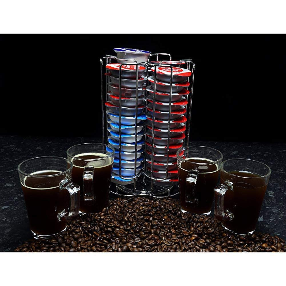 KEYkey Titular Discos T utensilio /útil en Funcionamiento caf/é Tassimo para M/áquinas 52 Capacidad Incluye 4 Vasos con Asas para Home