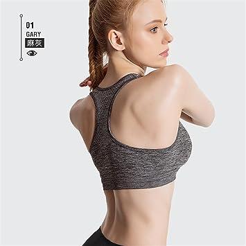 Qosow Sujetadores Deportivos para Mujer Ropa Interior Deportiva Mujer Fitness Running Yoga Anti-Sag Sueño