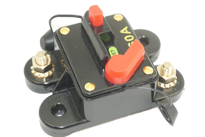 Waterproof Dc Circuit Breaker 12v 24v Manual Reset 300 Amp Car Audio Inline Replace Fuse For Trolling Motor Auto Marine Boat Bike Stereo