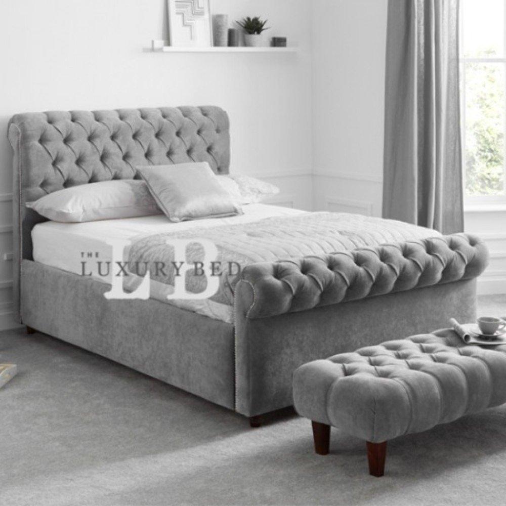 The Luxury Bed Co. Duke Chesterfield Bett mit Kopfteil und Fußteil ...