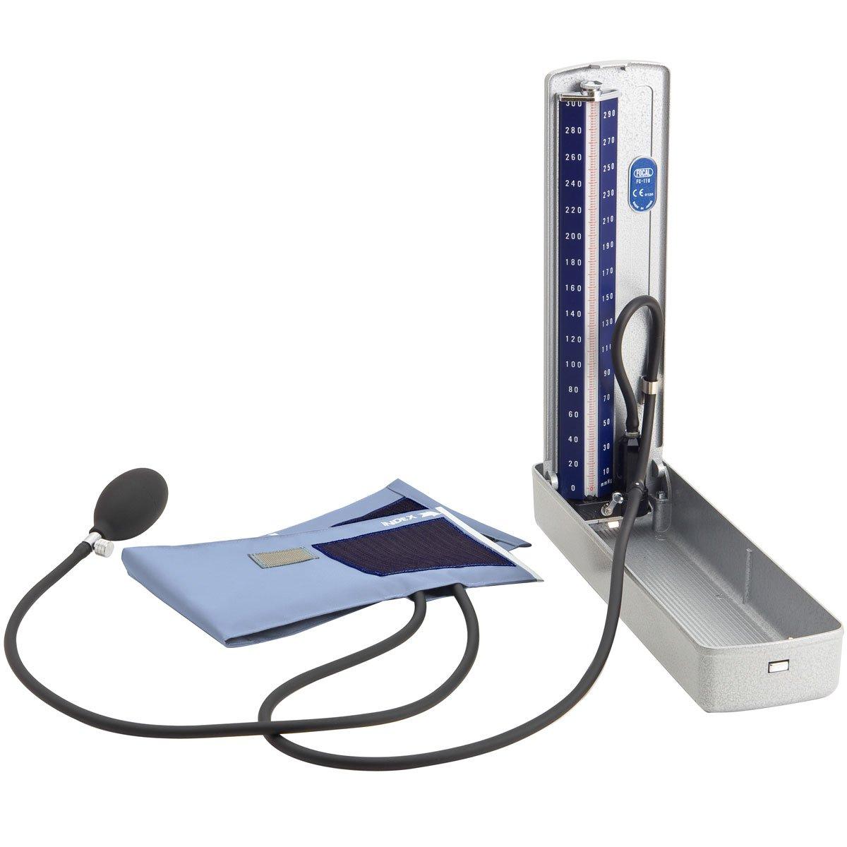 FOCAL デスク型水銀血圧計 FC-110DX ナイロンカフ スカイブルー【4個セット】   B00D1QP8T8