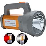 Super Bright LED Spotlight Flashlight USB Rechargeable High 6000 Lumens Handheld Strong Searchlight Large Battery Power 10000mah Long Lasting with Charger Waterproof, Side Flood Light Outdoor Camping Lantern Work Light Torch