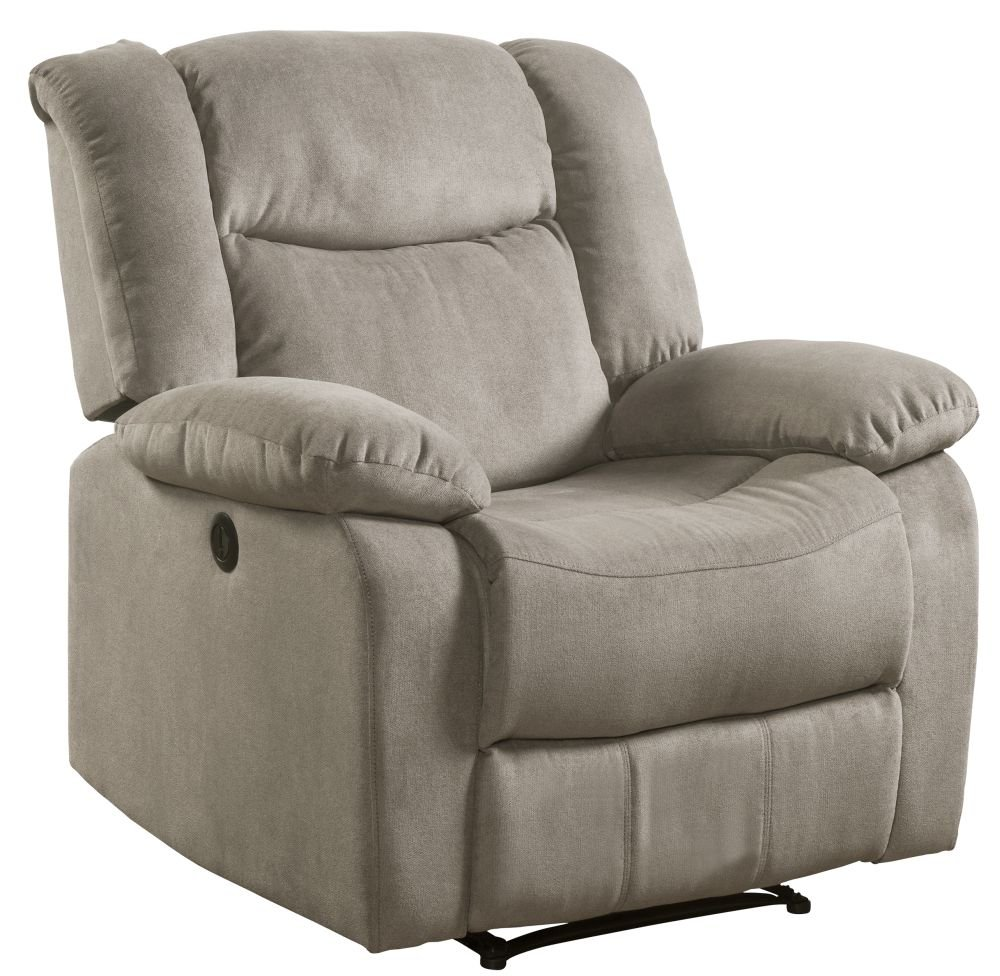 Lifestyle Power Taupe Recliner Fabric