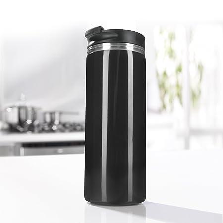 GOURMETmaxx Cafetera de Prensa Francesa y Termo de café para Llevar, 2 en 1, 300 ml, sin extracción Continua, el café no se vuelve más Fuerte con el ...
