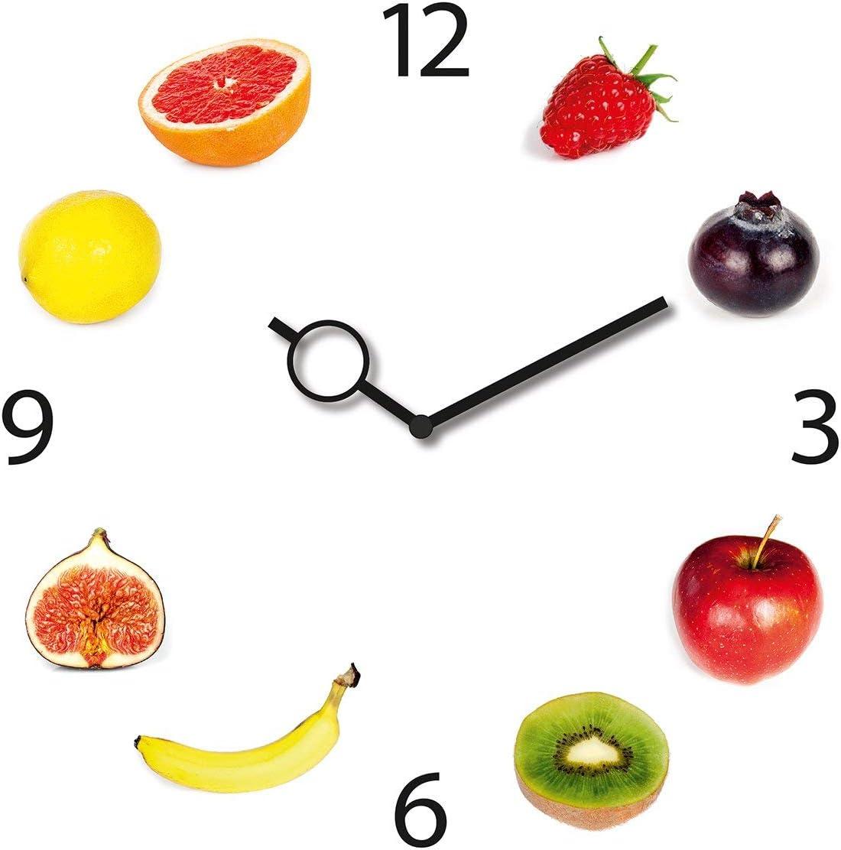 Platin Art Fruits Clock 13,12×13,12, 13.12 x 13.12