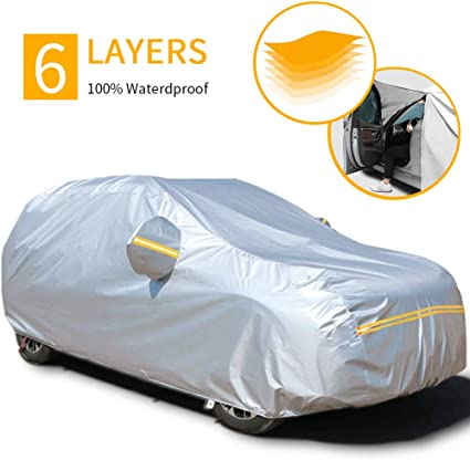 a prueba de polvo protecci/ón UV a prueba de sol impermeable tama/ño completo Funda protectora de coche para exteriores