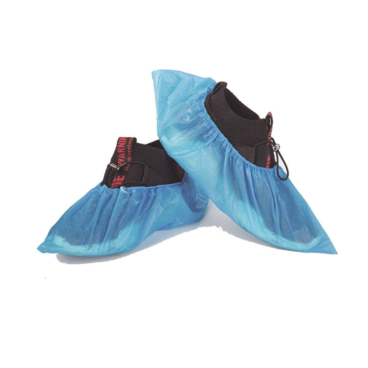 YINJIESHANGMAO Disposable Shoe Cover, CPE Indoor Non-Slip Wear-Resistant Household Waterproof Shoe Cover, Rain Plastic Rainproof Foot Cover, (Size : Three Packs of 300)