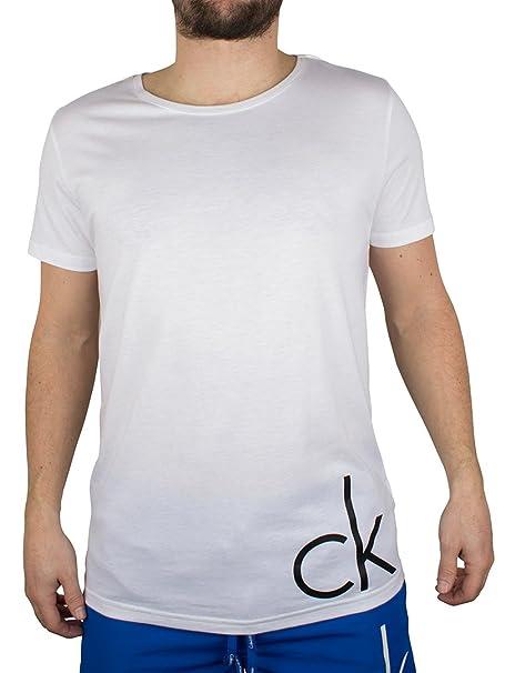 Calvin Klein Hombre CK camiseta del logotipo, Blanco, X-Large: Amazon.es: Ropa y accesorios