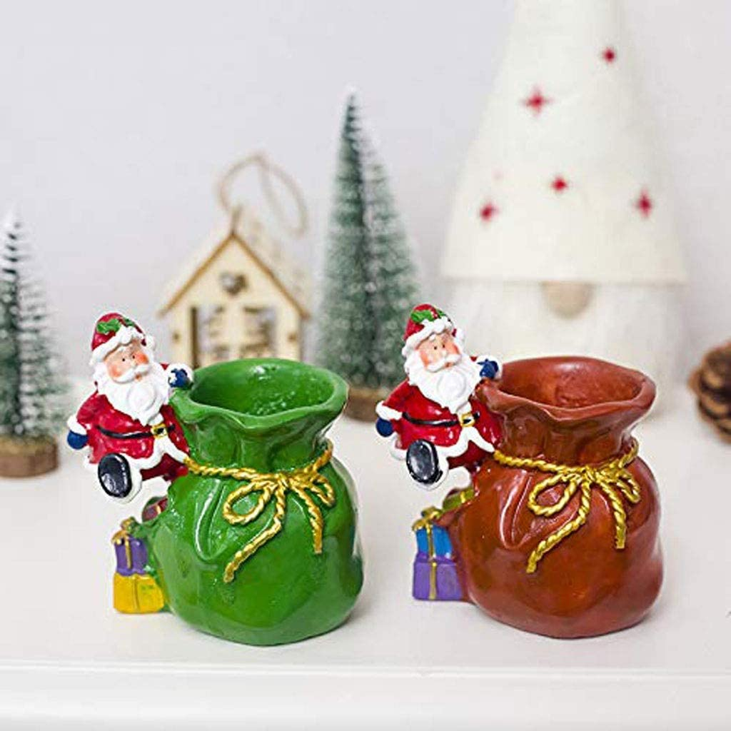Baibao Pen Holder, Painted Gift Decoration Supplies Desk Decoration Craft Storage Box (Color : Green) (Color : Green) Red