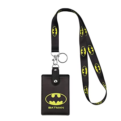 HASFINE Cute Credit Card Case Neck Pouch ID Badge Holder Lanyard with  Cartoon Shield Keychain for Students Teens Boys Girls Women