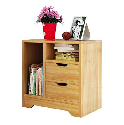Amazon.com: ZXUE Bedroom Bedside Table Solid Wood Living ...
