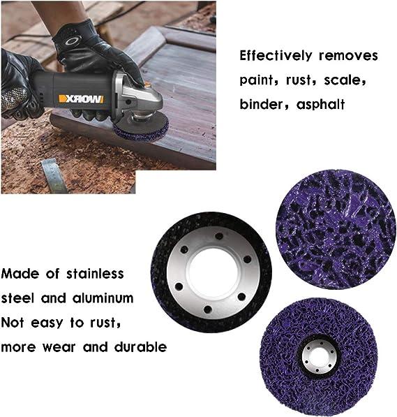 NACTECH 2pcs Disque Abrasif 125mm Disques de Nettoyage Polycarbonate Disques Abrasifs pour Meuleuse D/écapage Enl/ève Peinture Anti-Rouille
