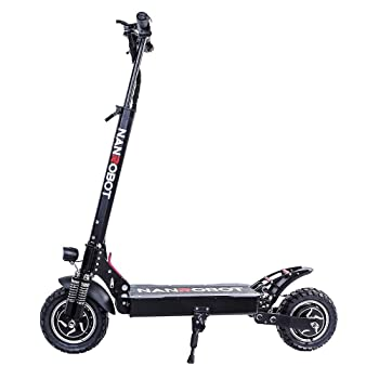 NANROBOT D4+High Speed Electric Scooter -Portable Folding, 40 MPH and 45 Mile Range of Riding, 2000W Motor Power, and 330lb Load