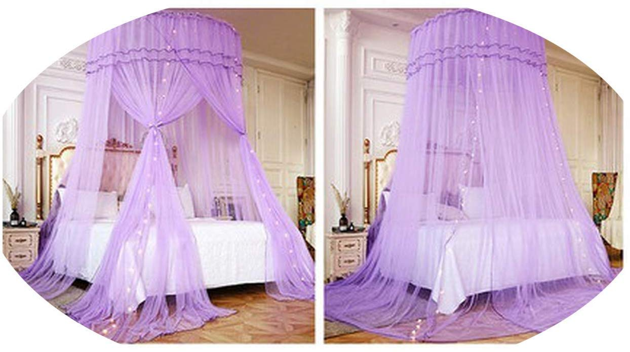 Bedding Mosquito Net Romantic Baby Girl Round Bed Mosquito Net Bed Cover Bed Canopy for Kid Nursery,B,OneSize,E by CNoelcn