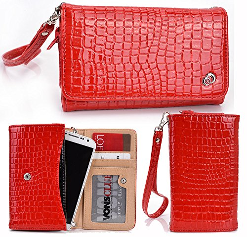 RED| [Diva] Universal Womens Wrist-let Wallet Clutch Compatible with: RVA| RCA A1, RCA G1, RCA M1