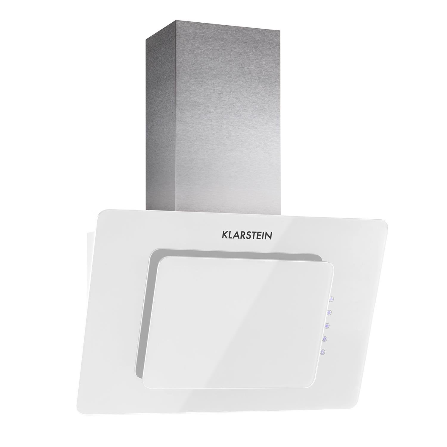 Klarstein Lorea Extractor Cooker Hood • 60 cm • 270 m3/h Maximum Extraction Power • Touch Panel • Black Hardened Safety Glass • Contrasting Ventilation Flap for Head-Free Work • Extremely Low Operating Noise • 3 Power Levels • Black 4260489829493