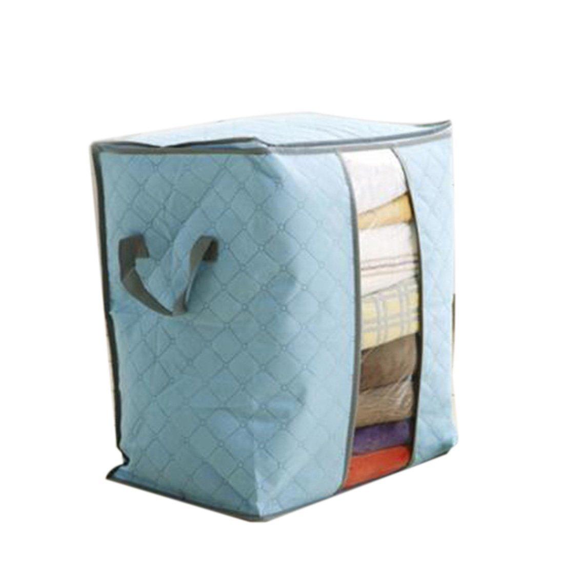Joylive 2016 Storage Bag Box Portable Organizer Non Woven Underbed Pouch Storage Box Bamboo Clothing Storage Bag