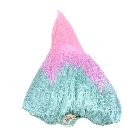 Amosfun Troll peluca llama forma cono peluca cap peluca elf ...