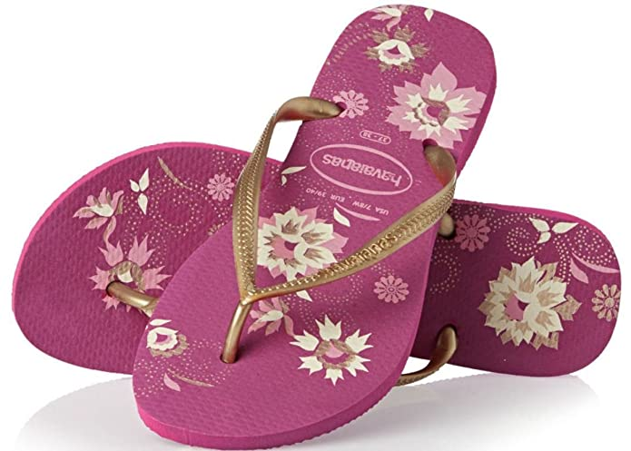 23dcc25aec4dd2 Havaianas Slim Organic Pink Multi Womens Summer Flip Flops-40   Amazon.co.uk  Shoes   Bags