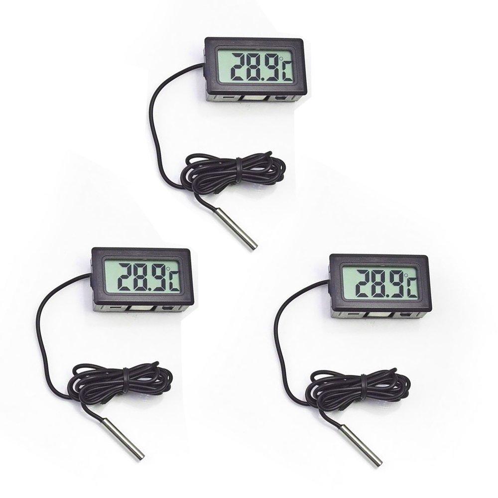 Thermomètre, cooso Thermomètre numérique avec écran LCD pour aquarium Congélateur Réfrigérateur Congélateur Réfrigérateur Frozen GUSHU LTD. thermometer