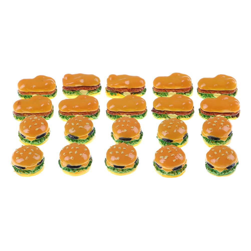 Jow B07C7B7MT3 Jow 2pcsハンバーガー食品モデルミニチュアドールハウスアクセサリー B07C7B7MT3, 通販カーテン屋:a153f726 --- alumnibooster.club