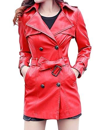 Manteau femme hiver simili cuir