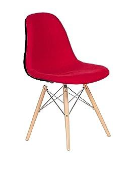 SuperStudio LO+DEMODA Wooden - Silla tapizada, Color Gris ...