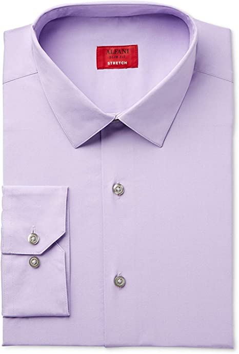 Alfani Slim Antique White Solid Button Down New Mens Dress Shirt