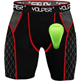 Short deslizante Youper Youth Elite de compressão – short acolchoado com bojo esportivo de proteção macia para beisebol, soft