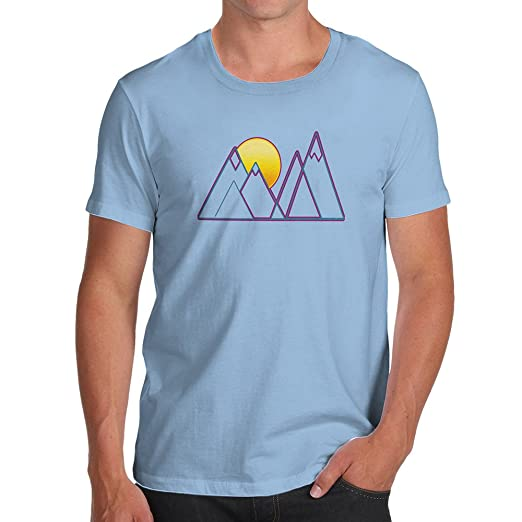 Twisted Envy Triangle Mountain Sunset Women/'s Funny T-Shirt