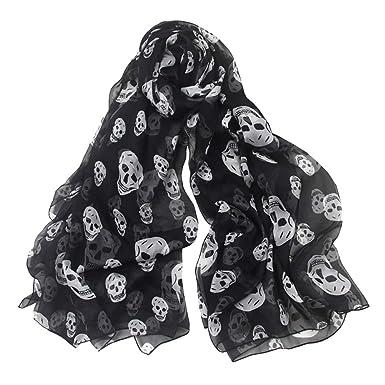 Wudi Foulard écharpe en mousseline de soie écharpe douce foulards de mode à  long châle pour e4b45f2a15c