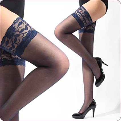 and lingerie Navy stockings blue