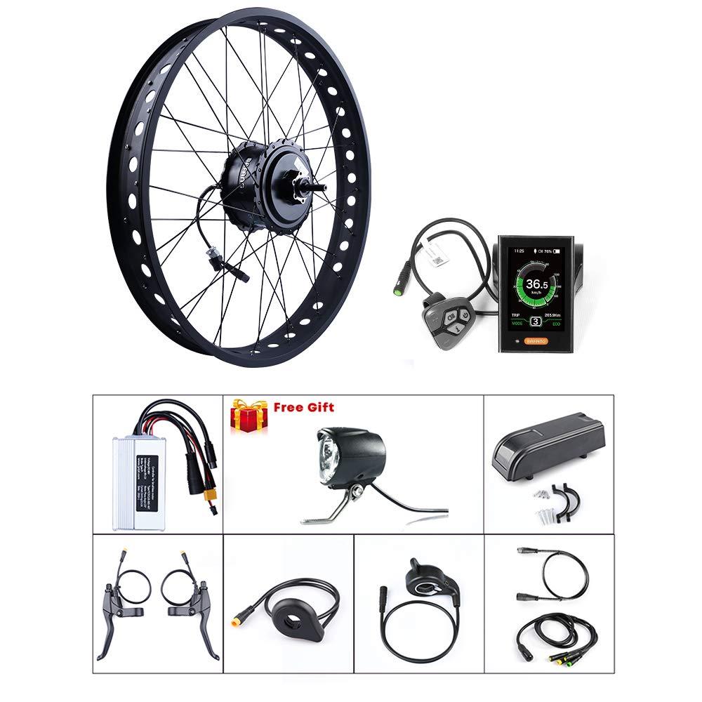 バイクDIY電動バイクモーターキット用BAFAGN 48V 750Wバイク変換キット(20