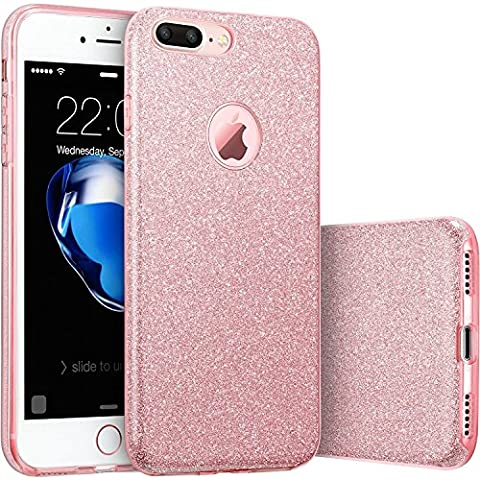 iPhone 7 Plus Case, [Anti-Discoloration, Durable TPU Rubber] Twinkling Soft Stylish Design with Shiny Sparkling Glitter (Iphone 4 Otterbox Armor Case)