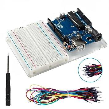 Kit de inicio para Arduino con el experimento UNO R3 (tablero de 400 alambres sin