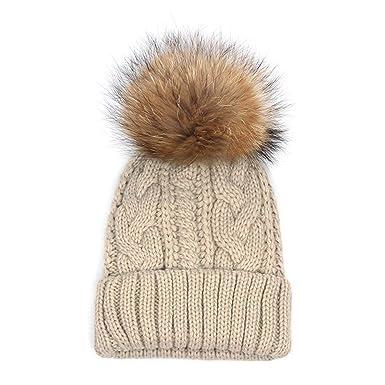 Cappello Caldo Cappelli Donna di Inverno Casuale Cappuccio di con Grazioso  Comodo Eco-Pelliccia Beanie ebe5bc61f3f4