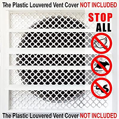 "New Aroma Trees Dryer Vent Bird Stop - Dryer Vent Grill - Pest Guard - Stops Birds Nesting In Dryer Vents and Bathroom Exhaust Vents Pipe, Customizable 3"" - 8"" Louver Vent Hood Cover Guard"