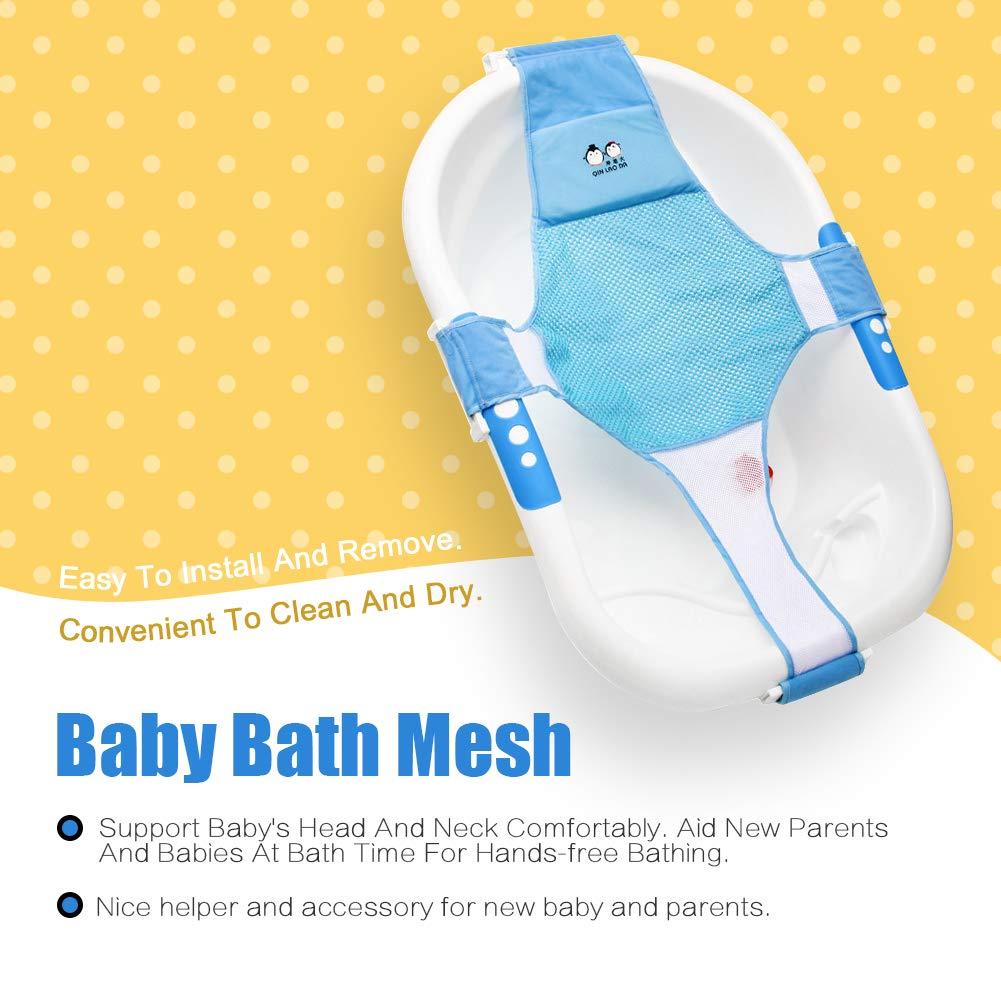 Amazon.com : StillCool Newborn Baby Bath Seat Support Net Bathtub ...