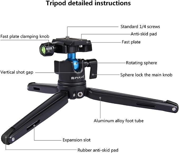 Black Color : Black Ychaoya Camera Stand Miniskirt 360 Degree Rotation Panoramic Alloy Ball Head for DSLR /& Digital Cameras
