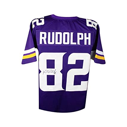 71e264f5e53 Image Unavailable. Image not available for. Color  Kyle Rudolph Autographed  Minnesota Vikings Custom Purple Football ...