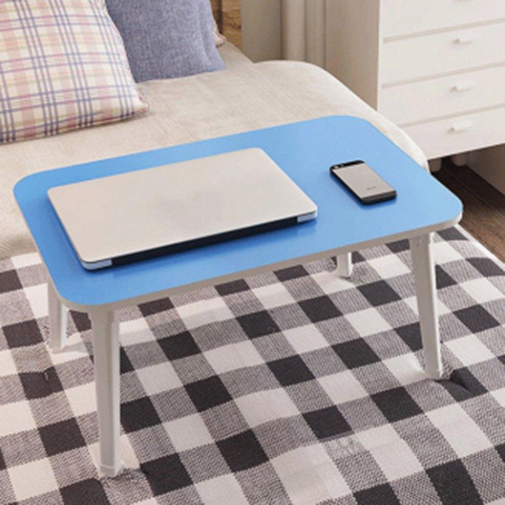 調節可能な 折りたたみテーブルシンプルな折り畳みコンピュータデスクベッド学生デスクレイジーデスク8色オプション60 * 40 * 29センチメートル 回転することができます ( 色 : D ) B07C2W73S3 D D