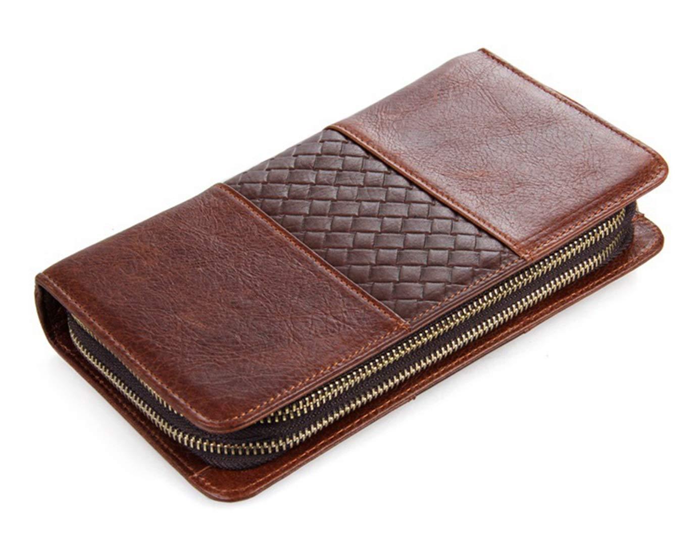 LINDANIG Herren Leder Lange Brieftasche Clutch Bag Bag Bag Business Clutch Bag Zipper Bag (Farbe   braun) B07MGGYYRV Clutches 53b7c2