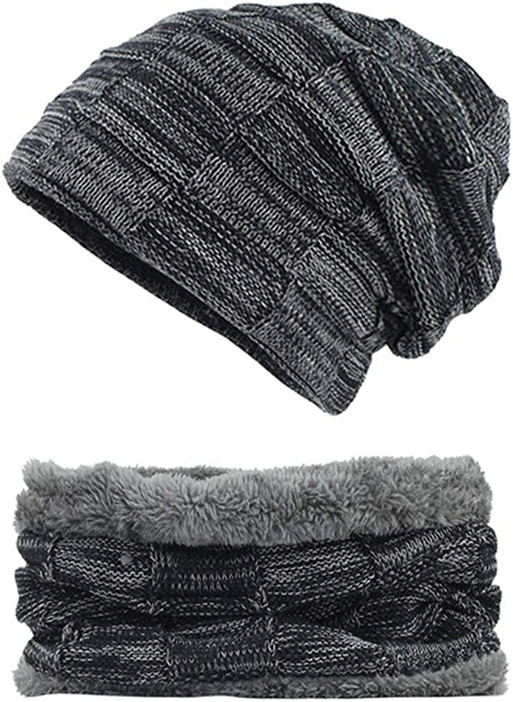 Thick Warm Hats Scarf Cap Knitted Wool Winter Hat Beanie Men Caps Lady Neck Warmer Beanie Soft Womens