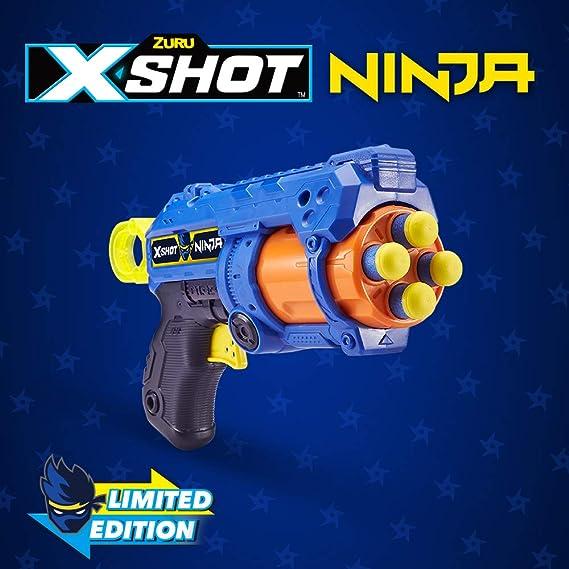 XShot Ninja No Rez Foam Dart Blaster (8 Darts, 1 Dog-Tag) Limited Edition by ZURU