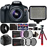 Canon EOS Rebel T6 Digital SLR with 18-55mm IS II Lens , 120 LED Light and Accessory Bundle