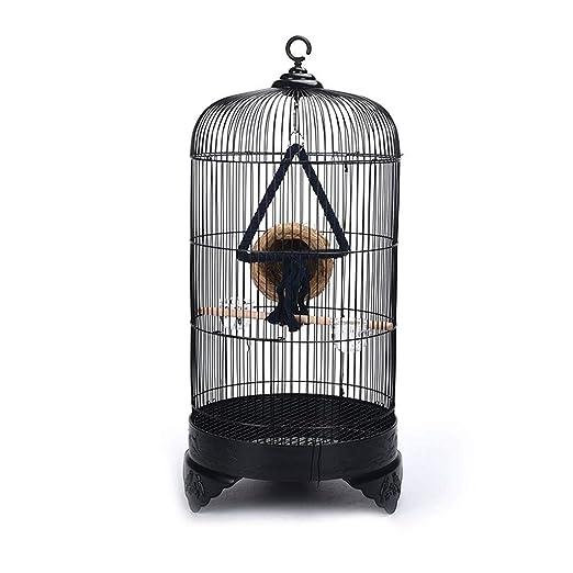 Jaulas de pájaros redondas y grandes de metal Nido de pájaros ...
