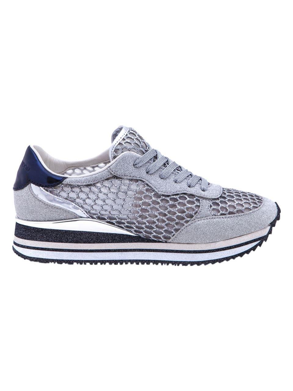 Crime - Zapatillas de Algodón para Mujer * 40 EU|Plateado