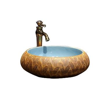 Bathtub LUYIASI- Kunst über Zähler Waschbecken Badezimmer Keramik ...