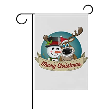 Amazon com : ClustersN Funny Reindeer Snowman Double-Sided