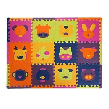 Haodene Puzzles Alfombras Infantiles para Niños , 12 Piezas ...